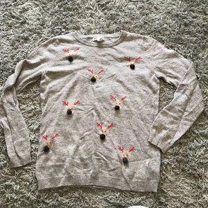 Artisan NY Lightweight Reindeer Sweater, M